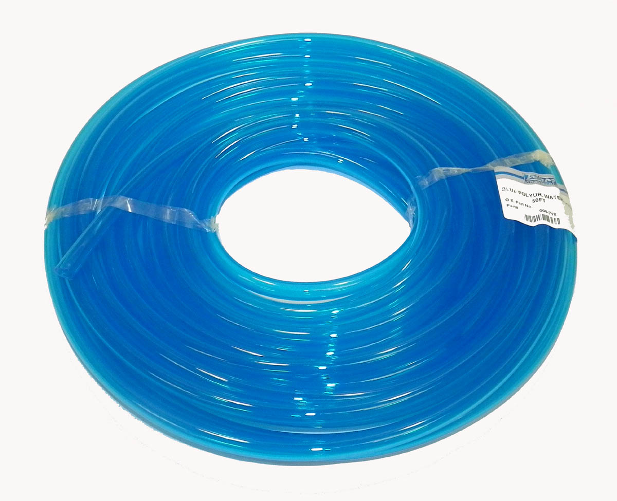 Blue Water Line 3/8 in ID - Sold Per Foot - Translucent Blue