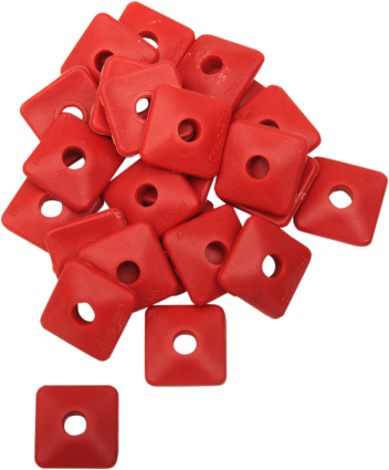 Air Lite Polymer Backers - Red Square - 5/16 in (pk 96)