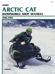 Clymer Shop Manual - Arctic Cat Snowmobile - 1988-1989